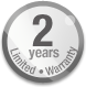2 years - Limited Warranty